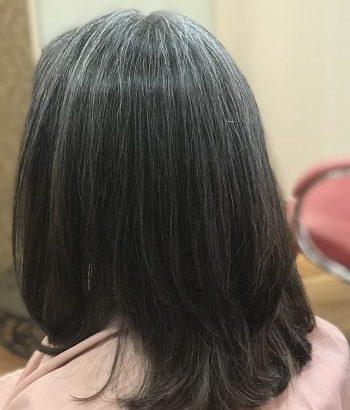 艶髪グレイヘアを目指して〜〜毛先のカラー毛がなくなっていく。